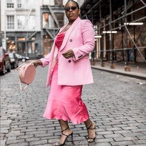 Zara Drape Neck Slip Dress size L